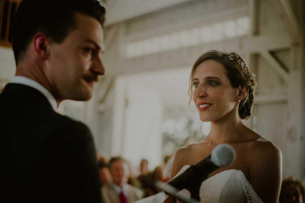 emotional ceremony moment during bonnet island wedding