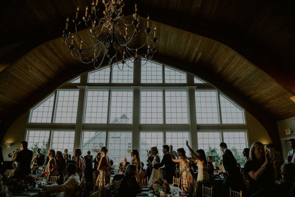 majestic view of bonnet island wedding venue during reception
