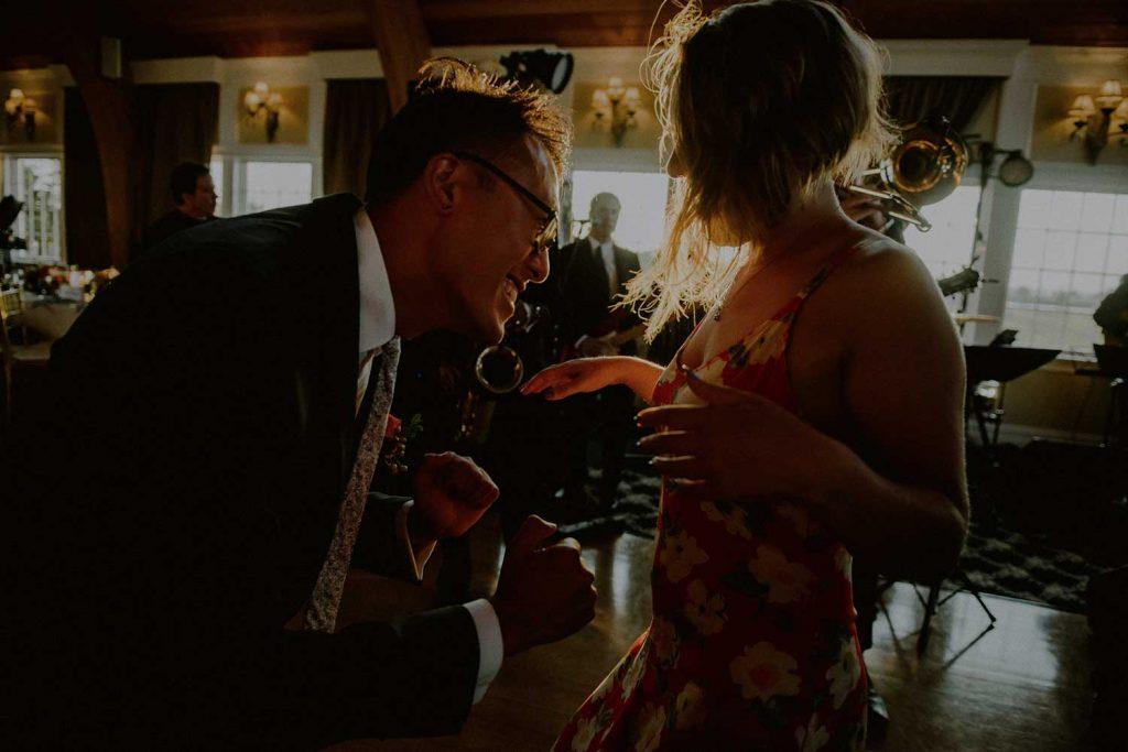 daytime dance floor scene during wedding reception