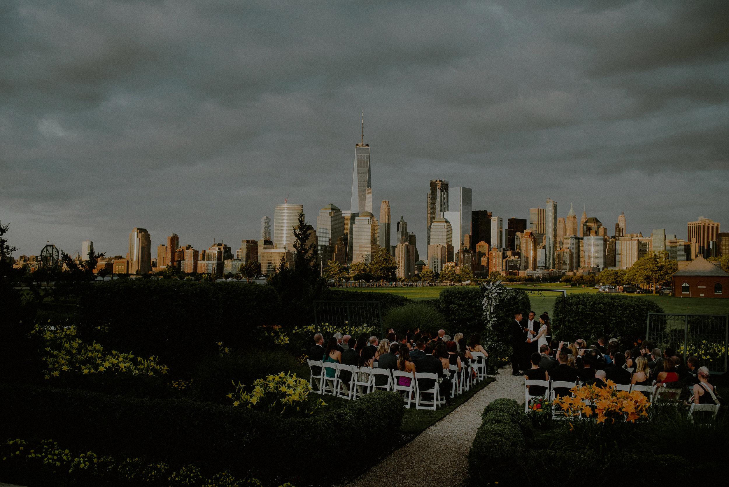 wedding reception overlooking nyc