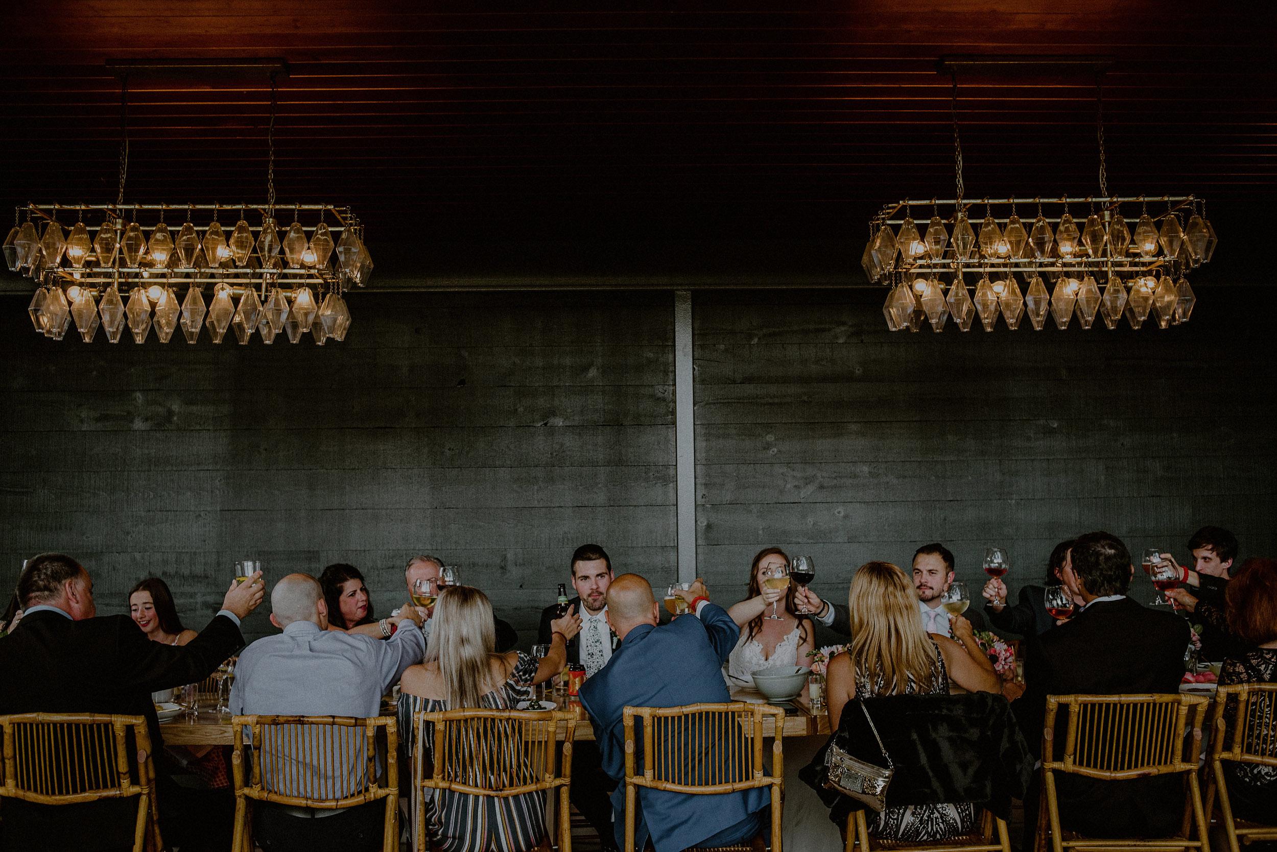 intimate wedding dinner